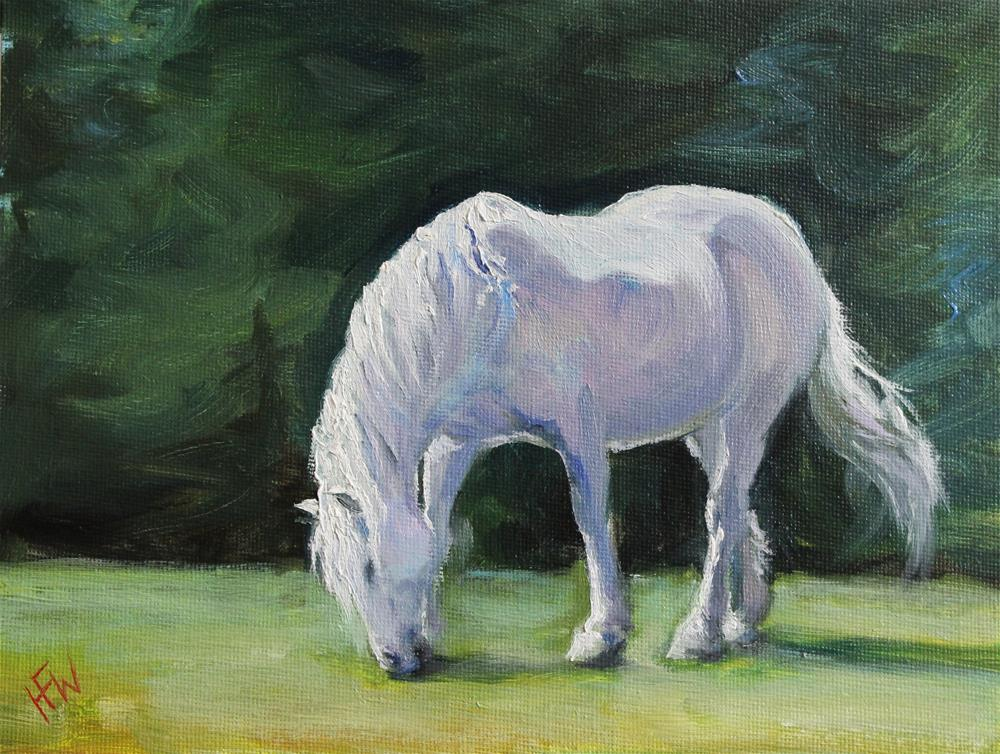 """Pink Pony"" original fine art by H.F. Wallen"