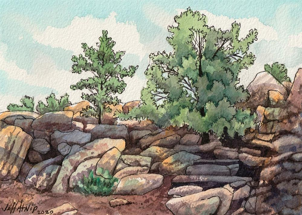 """Colorado Hillside"" original fine art by Jeff Atnip"