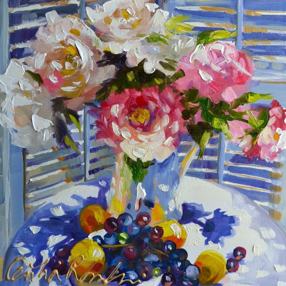 """BLUE SHUTTER"" original fine art by Cecilia Rosslee"