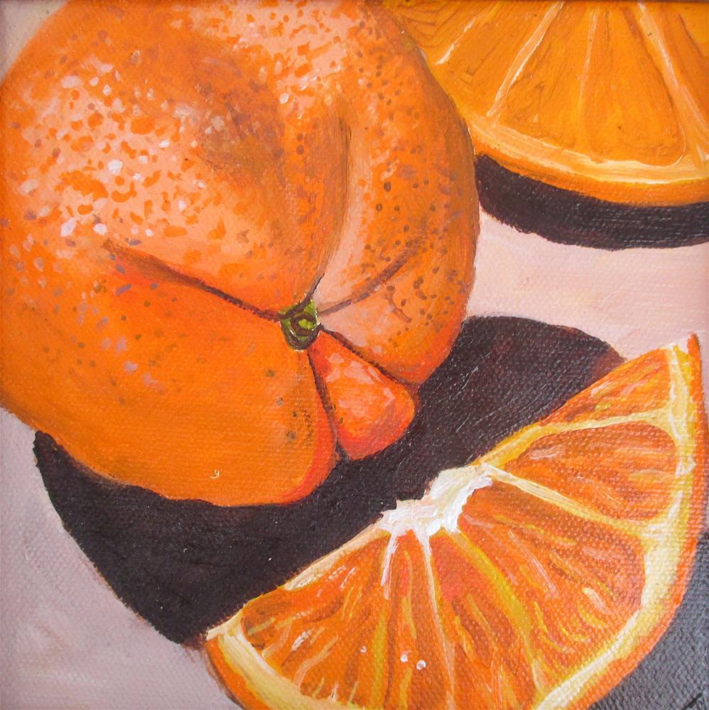 """Orange Study"" original fine art by Lisa Wiertel"