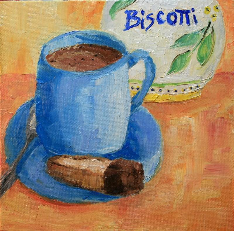 """Biscotti"" original fine art by Jean Nelson"