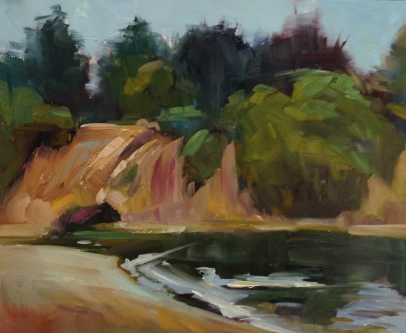 """Still at Sunset Beach"" original fine art by Patti McNutt"