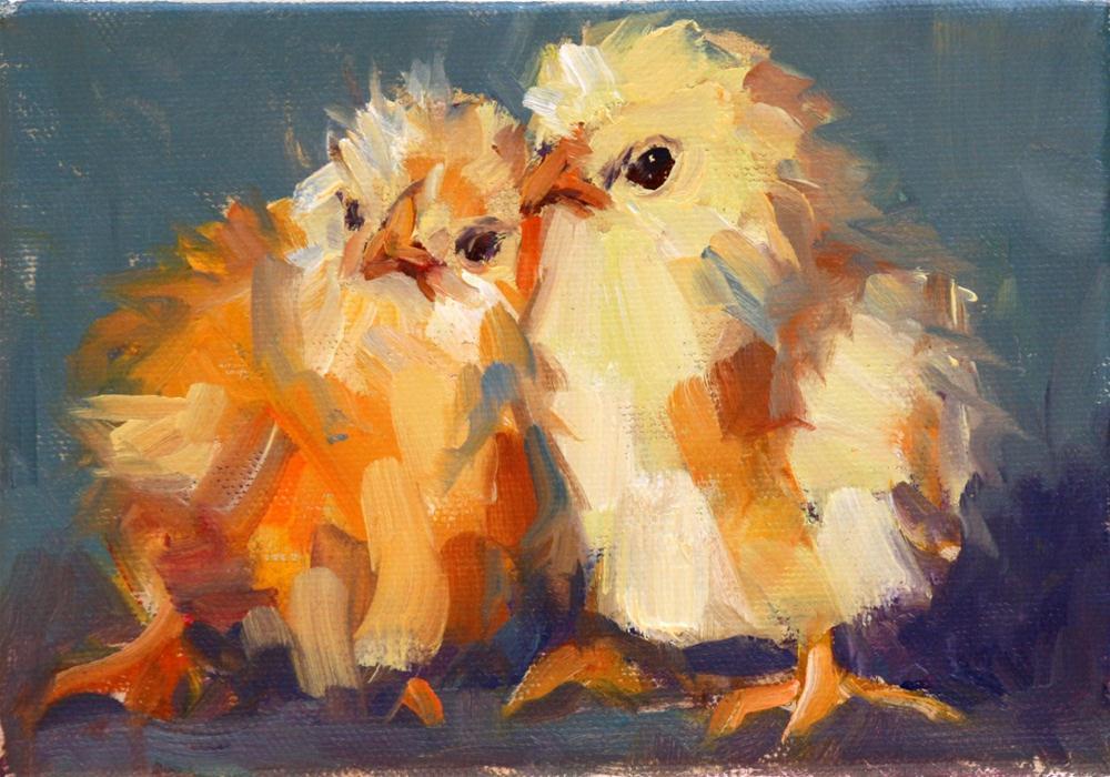 """birds of a feather"" original fine art by Carol Carmichael"