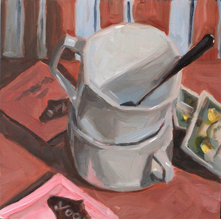 """""""Tea Cups"""" original fine art by Nealy May Riley"""