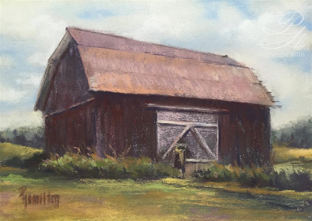 """Garfield Barn"" original fine art by Pamela Hamilton"