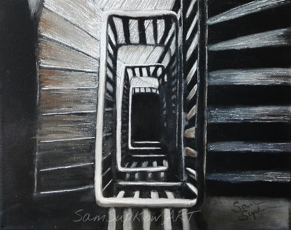 """""""Spiraling down."""" original fine art by Sam Supkow"""