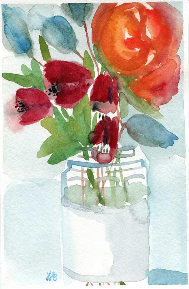"""""""Garden In A Jar No. 2"""" original fine art by Heather Bennett"""
