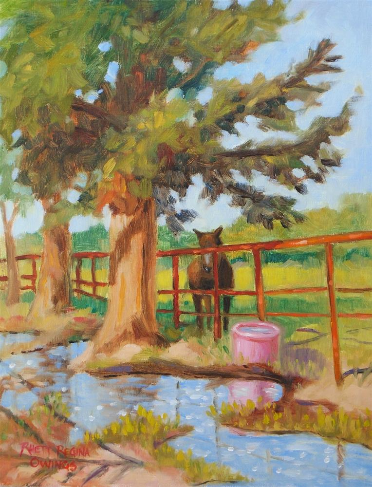 """The Pink Water Bucket"" original fine art by Rhett Regina Owings"