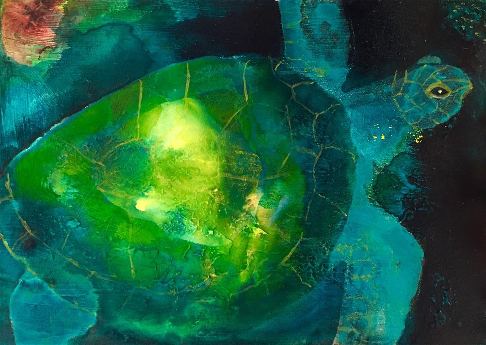 """#39 Emergence"" original fine art by Silke Powers"
