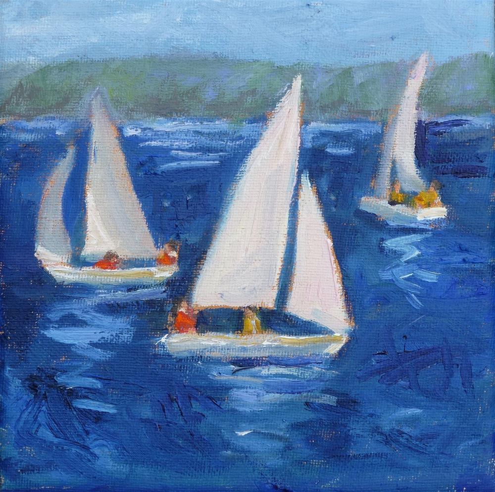 """Water Skippers"" original fine art by Shari Goddard Shambaugh"