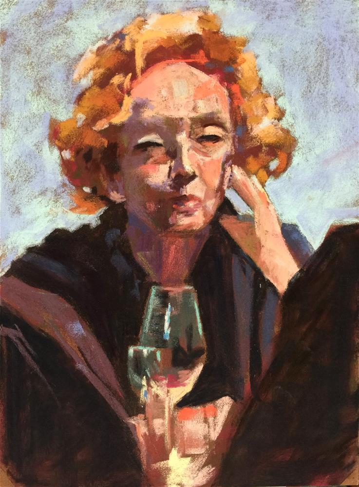"""Dinner Companions"" original fine art by Michelle Wells Grant"