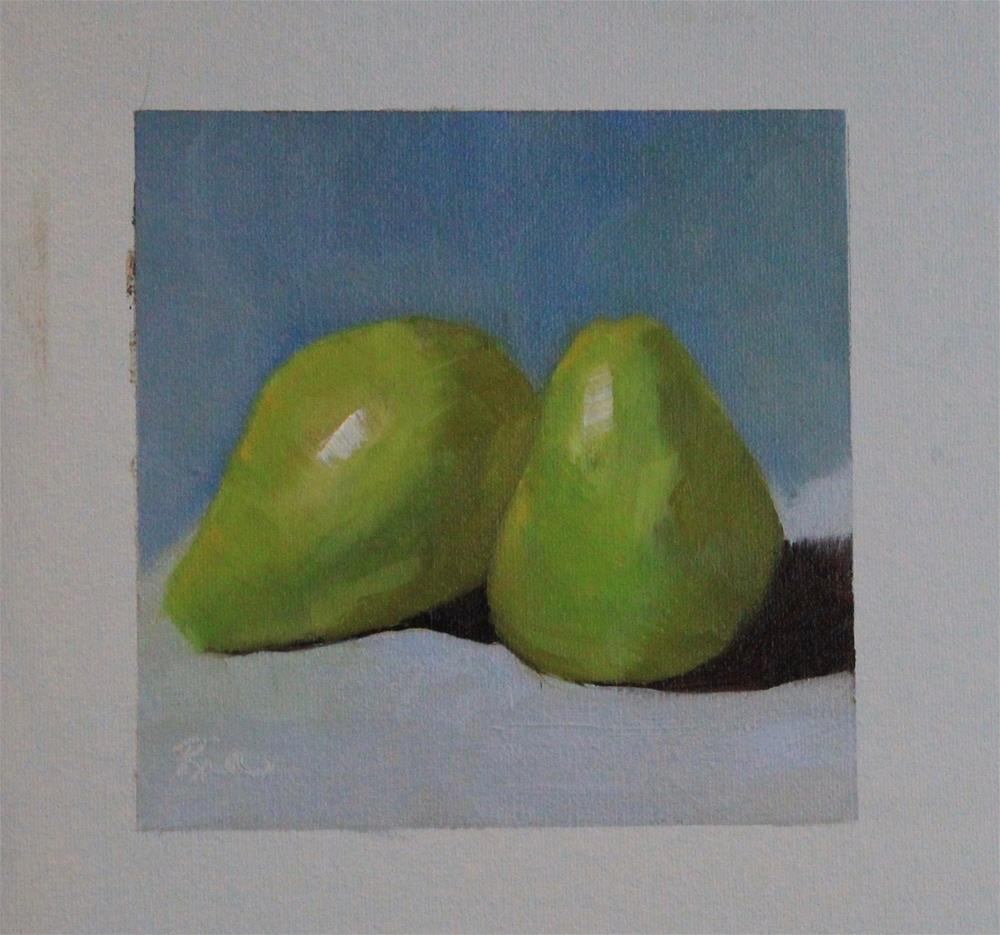 """""""Two Pear"""" original fine art by Maria Reed"""