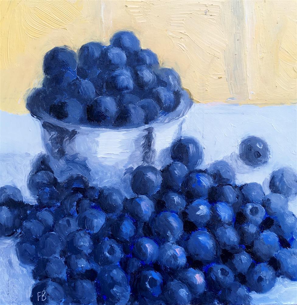 """064 Blueberries"" original fine art by Fred Bell"