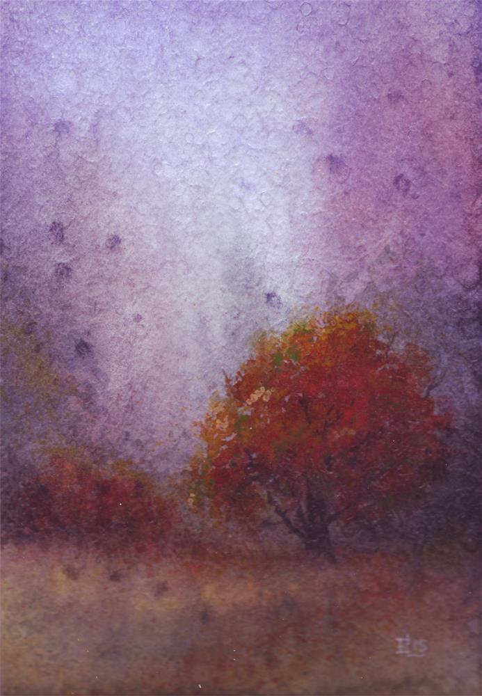 """""""Autumn Mist"""" original fine art by Emilia Leinonen"""