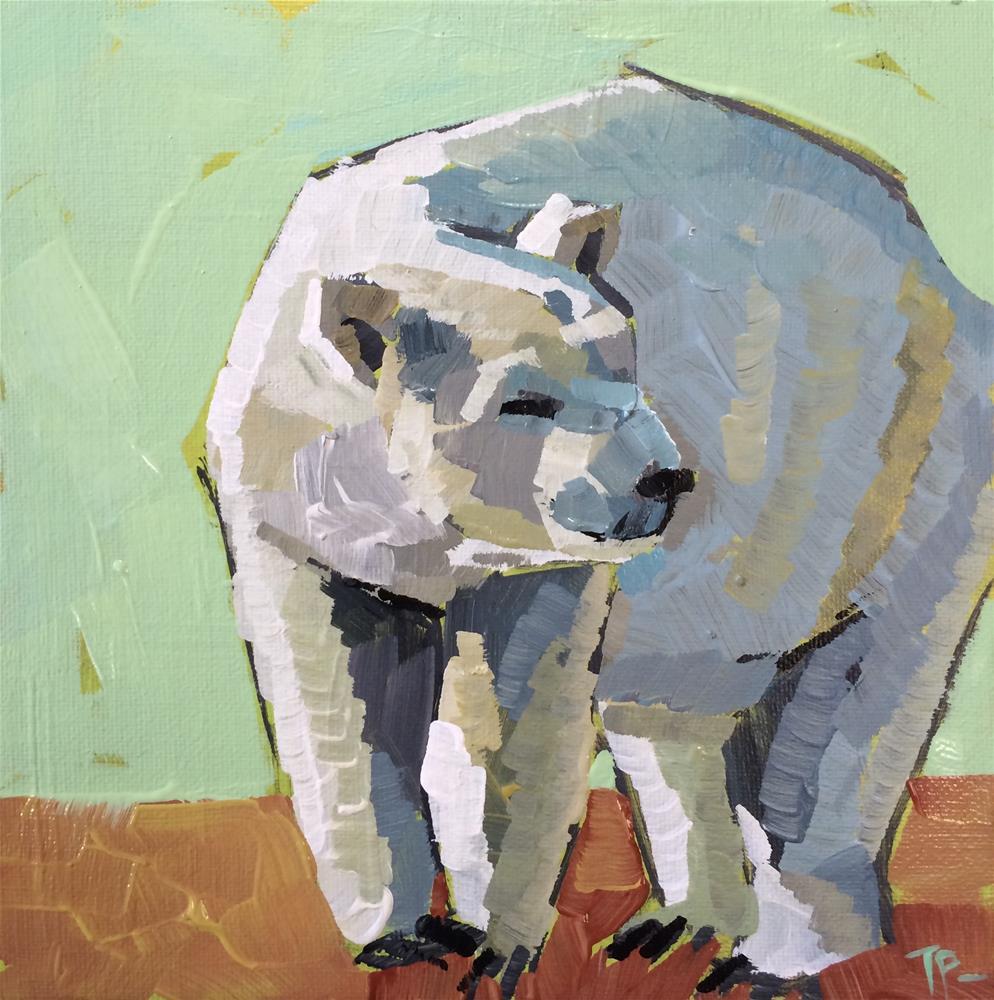 """Polar Bear Challenge"" original fine art by Teddi Parker"