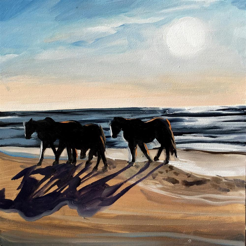 """Shadow Harem"" original fine art by Lauren Kuhn"