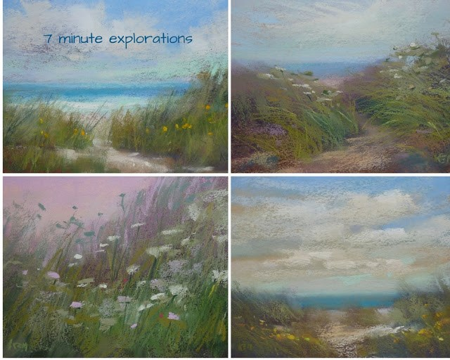 """""""Friday Fun: Try Some 7 Minute Explorations"""" original fine art by Karen Margulis"""