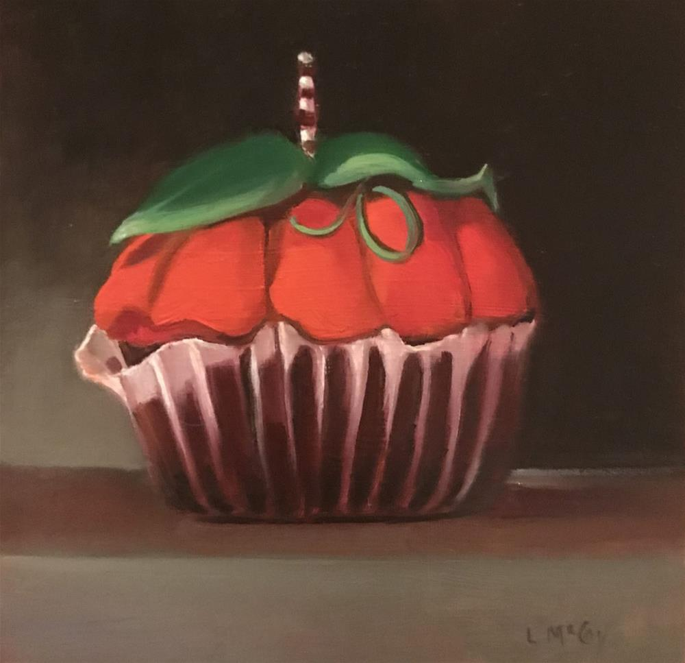 """Pumpkin Cupcake"" original fine art by Linda McCoy"