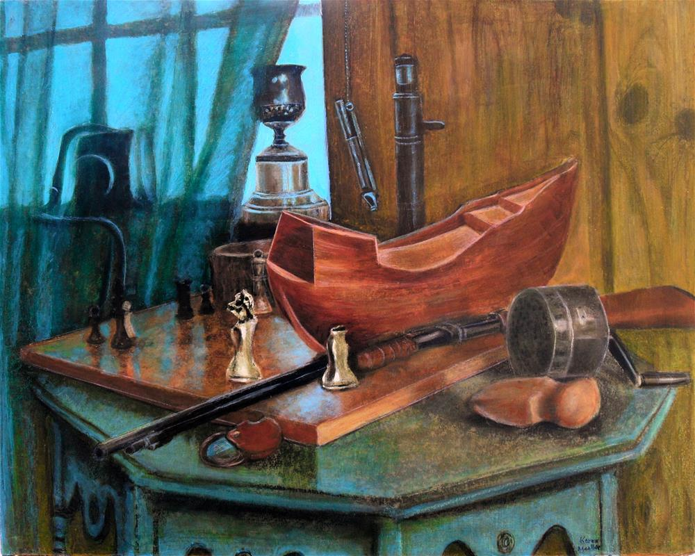 """Dad's Things"" original fine art by Karen Roncari"