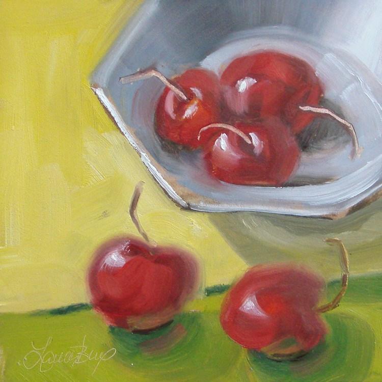 """""""Summer Fruit - 383"""" original fine art by Laura  Buxo"""