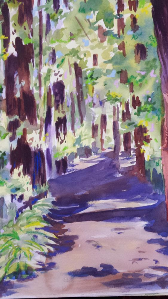 """""""Walk in the Woods"""" original fine art by angela scully"""