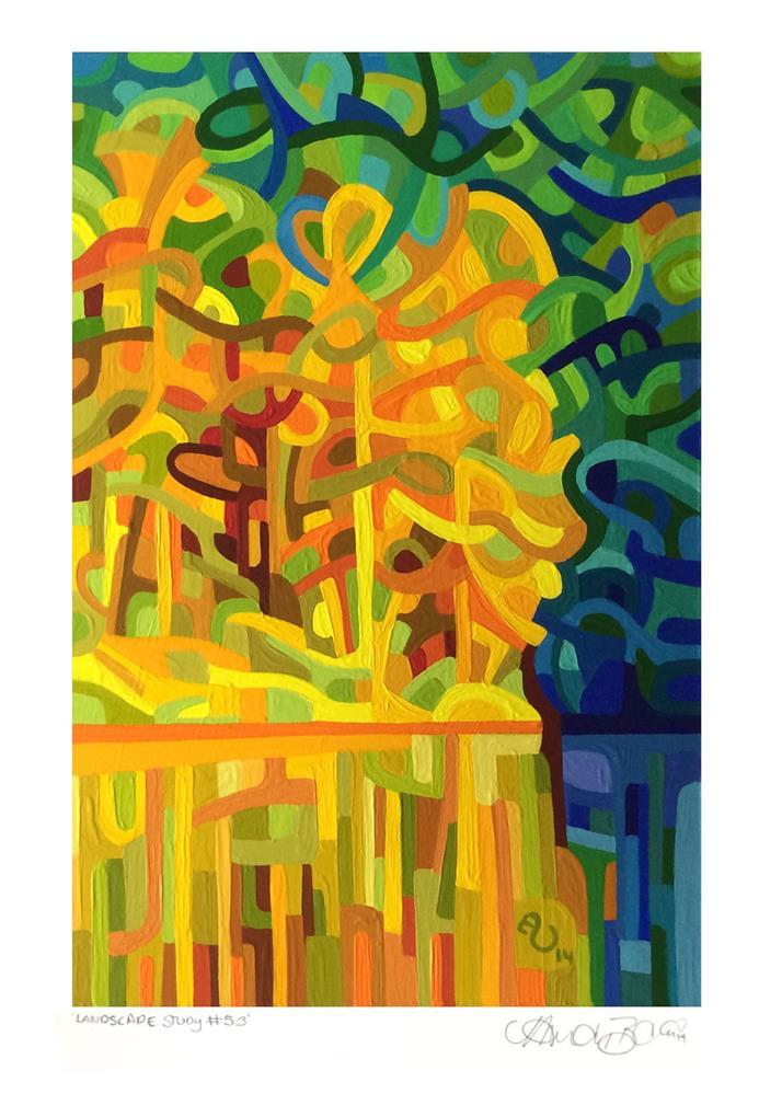 """Landscape Study #53"" original fine art by Mandy Budan"