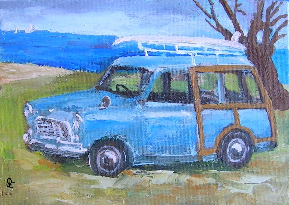 """""""Compact Woody"""" original fine art by Stanley Epperson"""