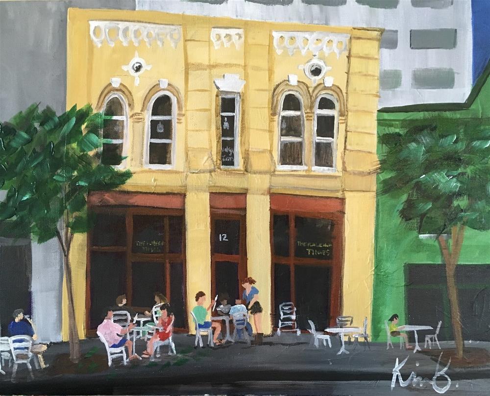 """Raleigh Times"" original fine art by Kimberly Balentine"
