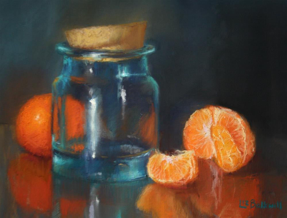 """Citrus with glass jar"" original fine art by Liz Balkwill"
