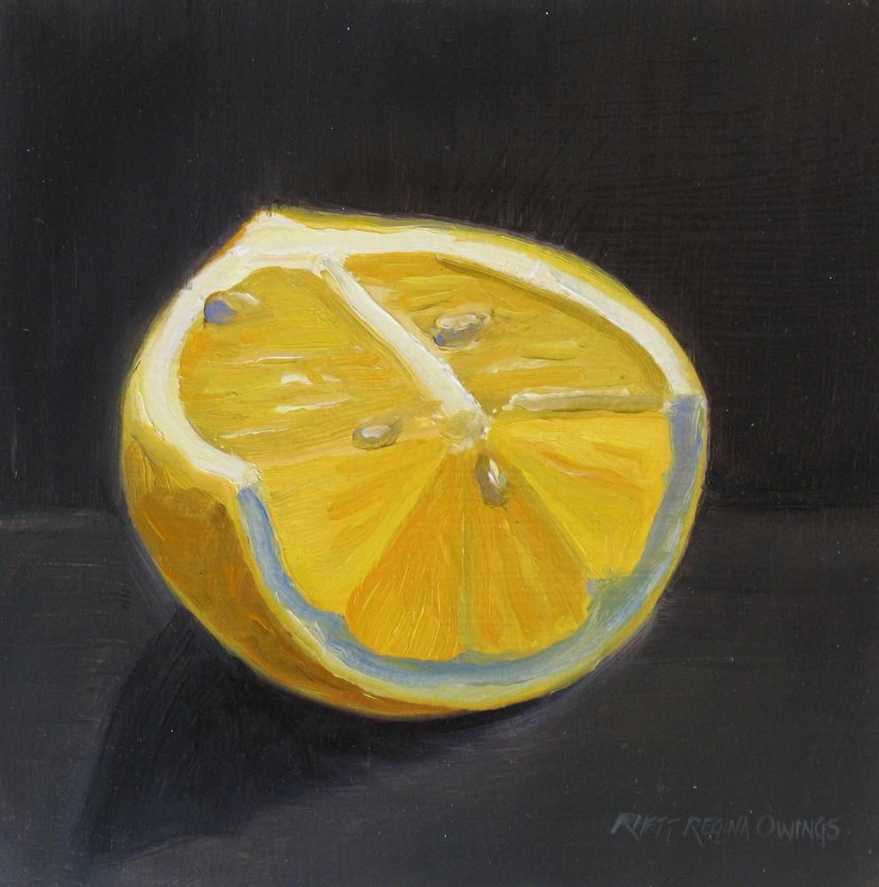 """Lemon"" original fine art by Rhett Regina Owings"