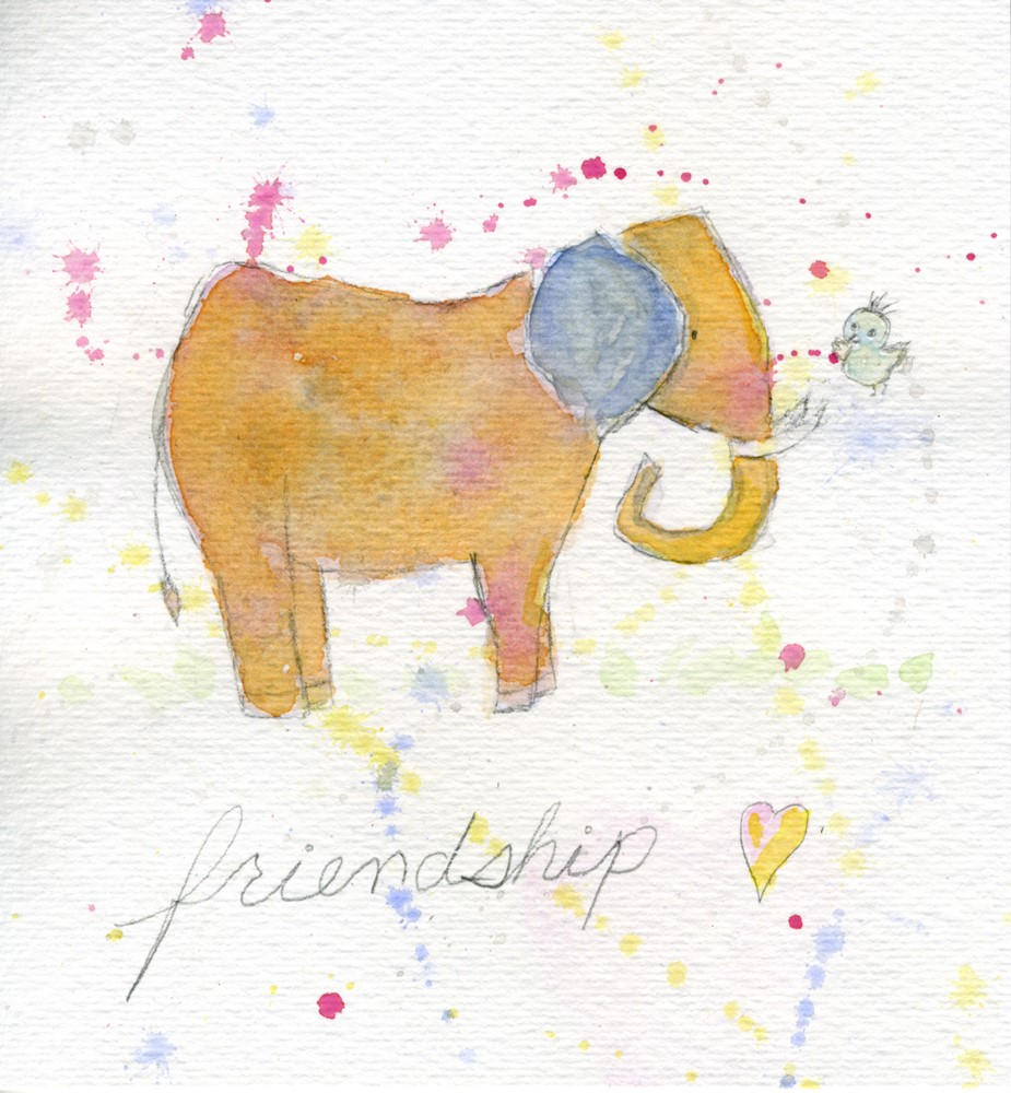 """Friendship"" original fine art by Kali Parsons"