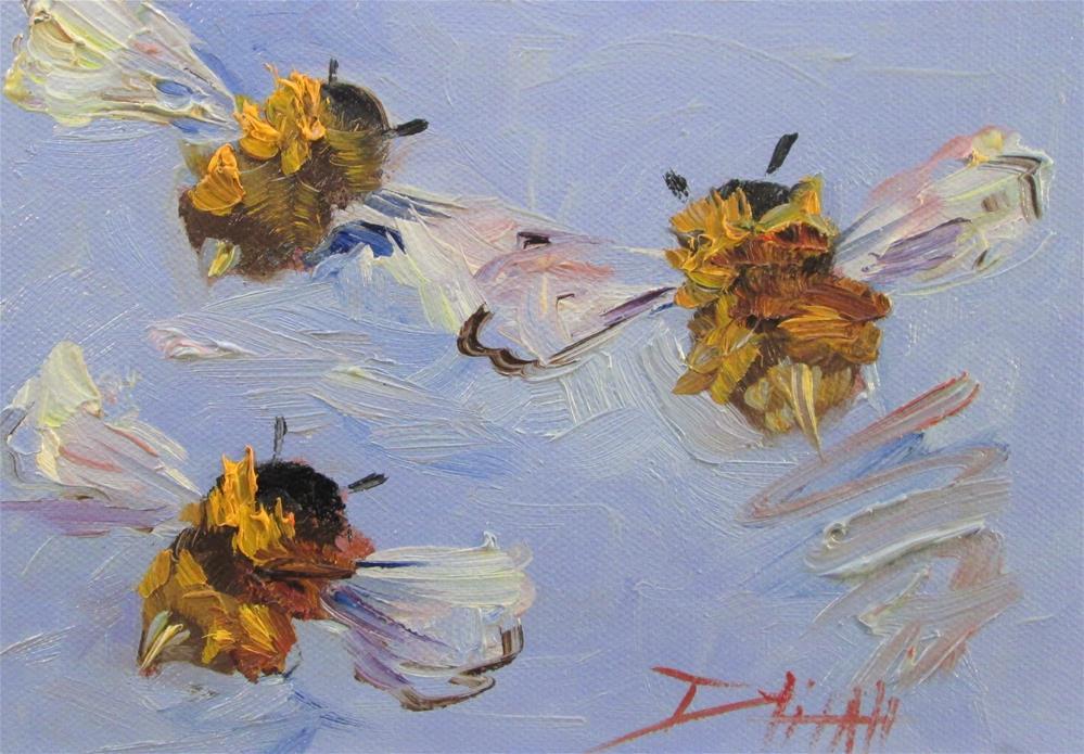 """The Buzz"" original fine art by Delilah Smith"