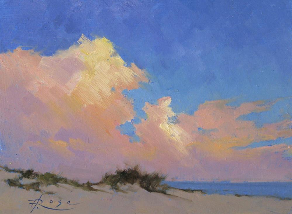"""""""Sunset Over West End"""" original fine art by Howard Rose"""