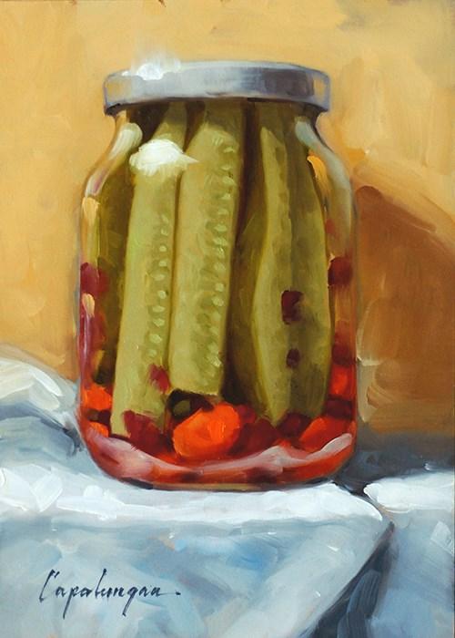 """""""Pickles"""" original fine art by David Capalungan"""