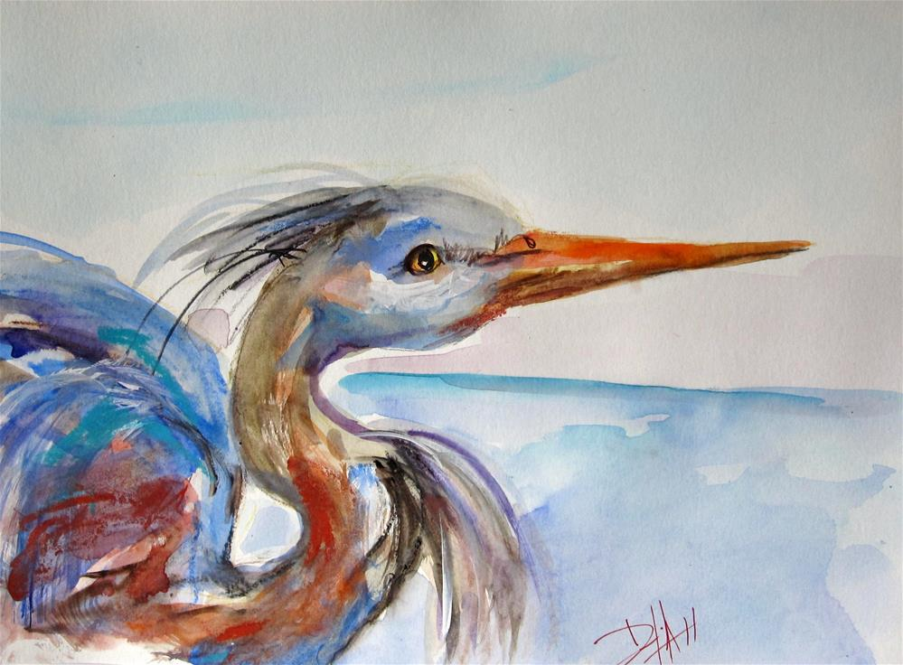 """Great Blue Heron"" original fine art by Delilah Smith"