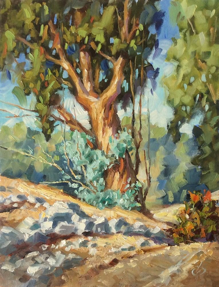 """CALIFORNIA LANDSCAPE"" original fine art by Tom Brown"