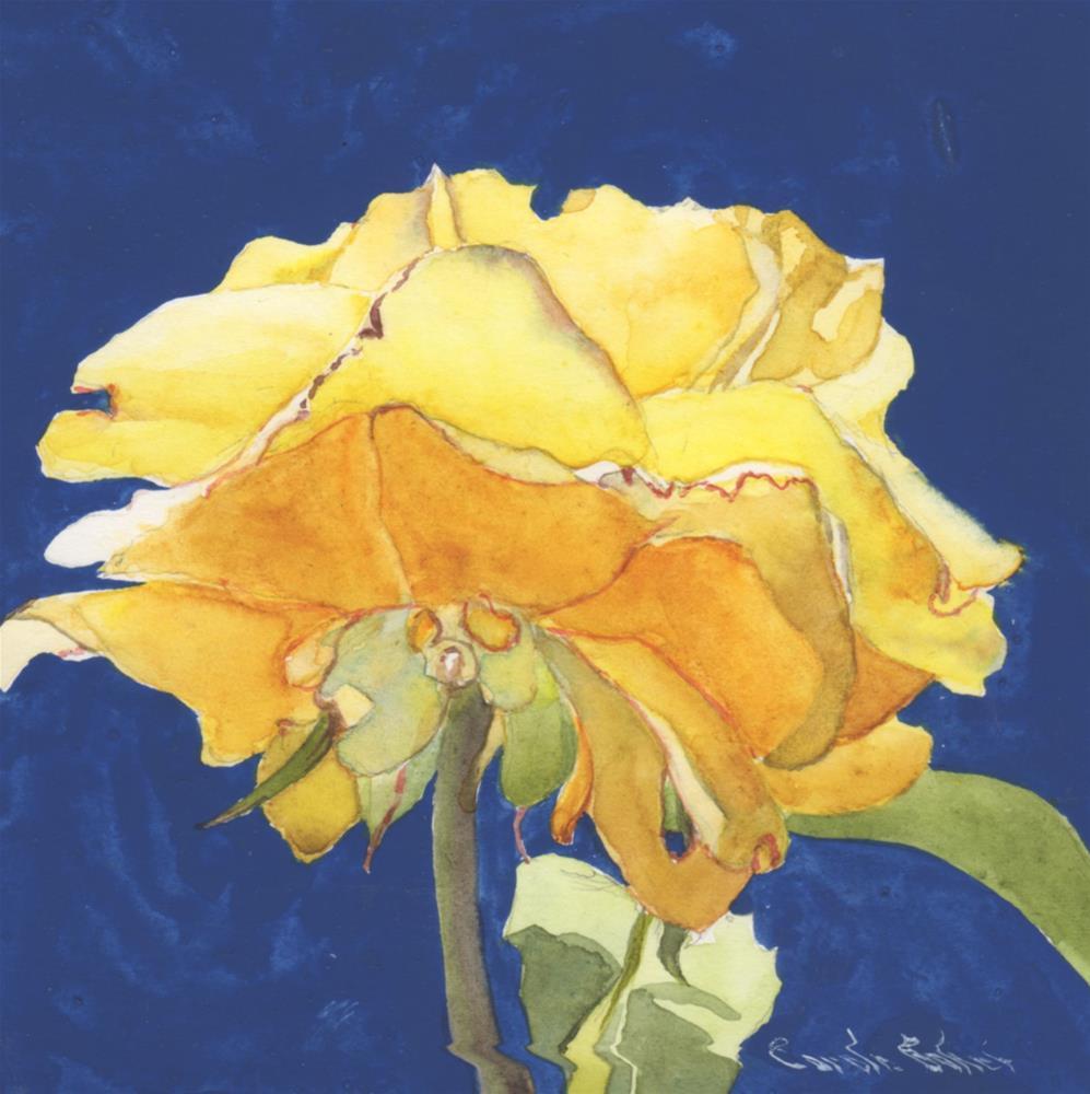 """Another Rose"" original fine art by Carole Baker"