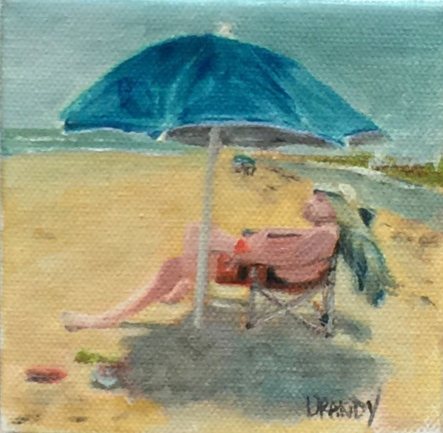"""Man at the Beach"" original fine art by Stephanie Drawdy"