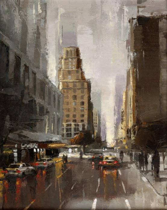 """""""Broadway No.2"""" original fine art by Victor Bauer"""