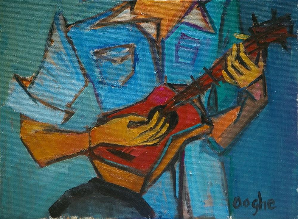 """Ukulele"" original fine art by Angela Ooghe"