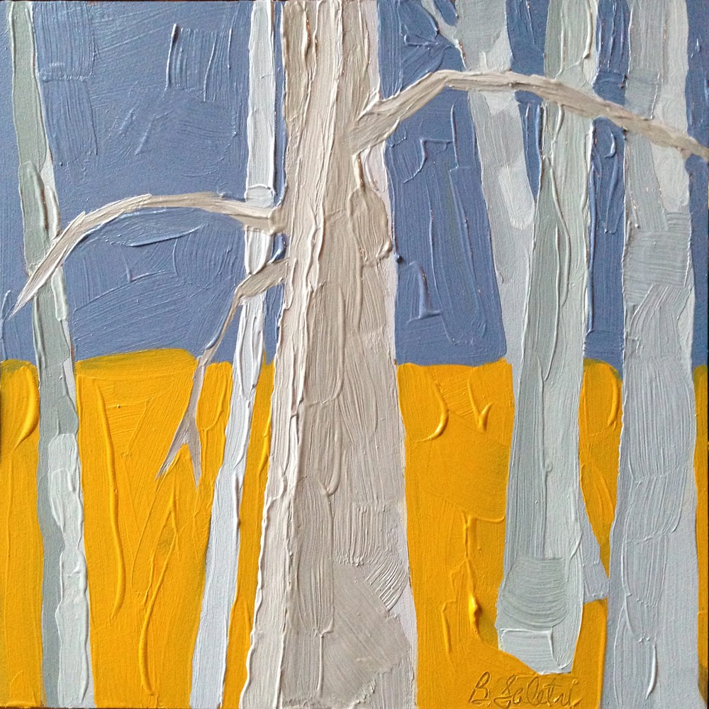 """""""trees without leaves II - variation 4"""" original fine art by Barb Saletri"""