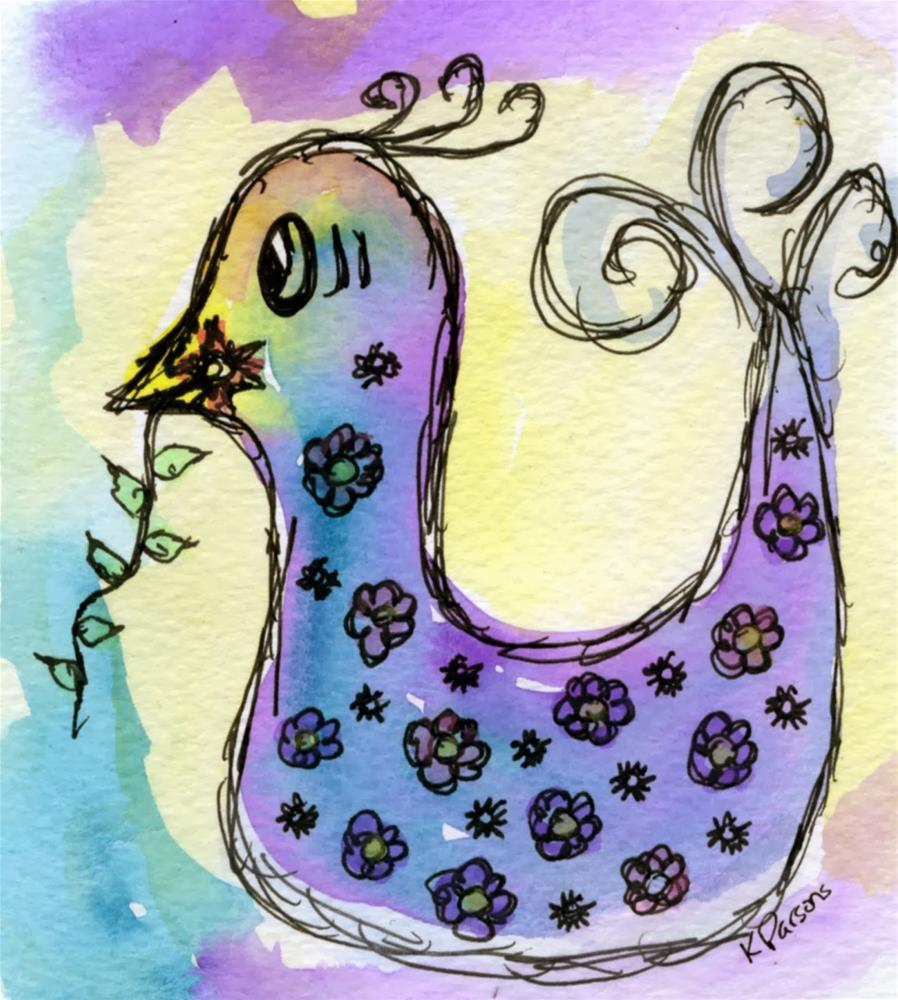 """""""This is My Flower"""" original fine art by Kali Parsons"""