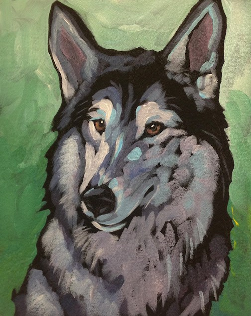 """Wild Eyes, Domestic Heart"" original fine art by Kat Corrigan"