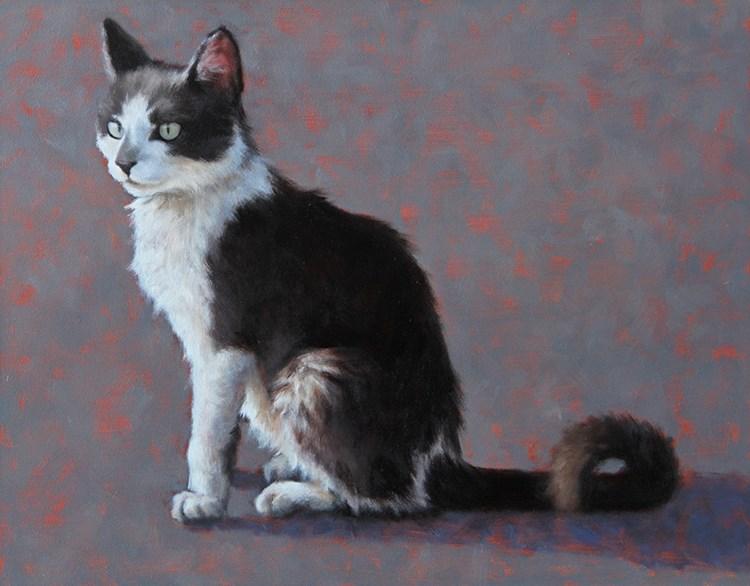 """""""Junkyard Kitty"""" original fine art by Sarah Becktel"""