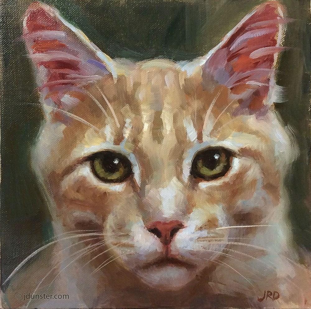 """""""Earnest Orange"""" original fine art by J. Dunster"""