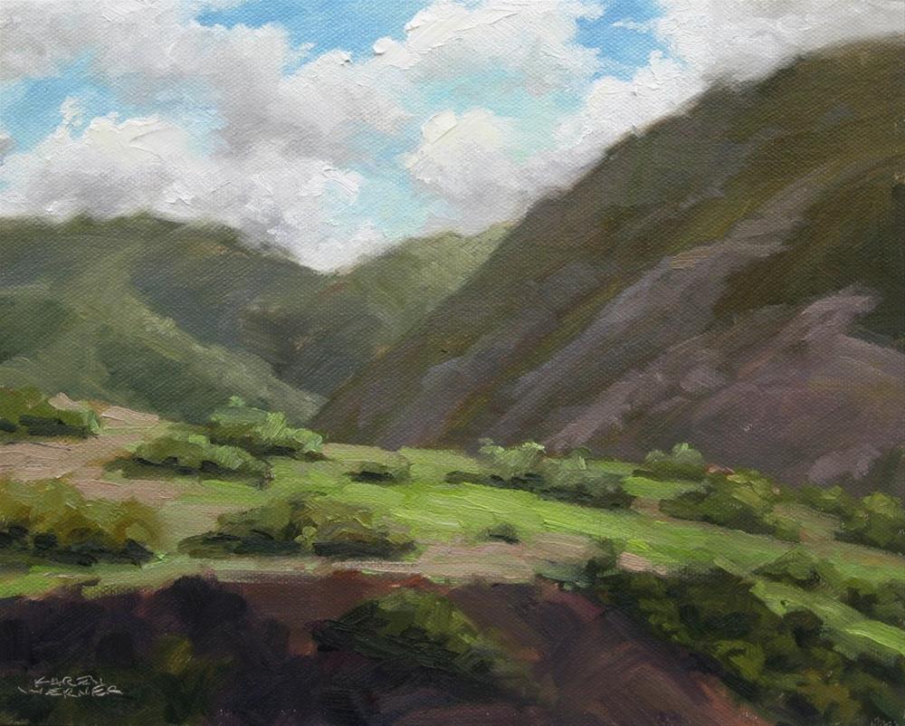 """Up Moro Canyon"" original fine art by Karen Werner"
