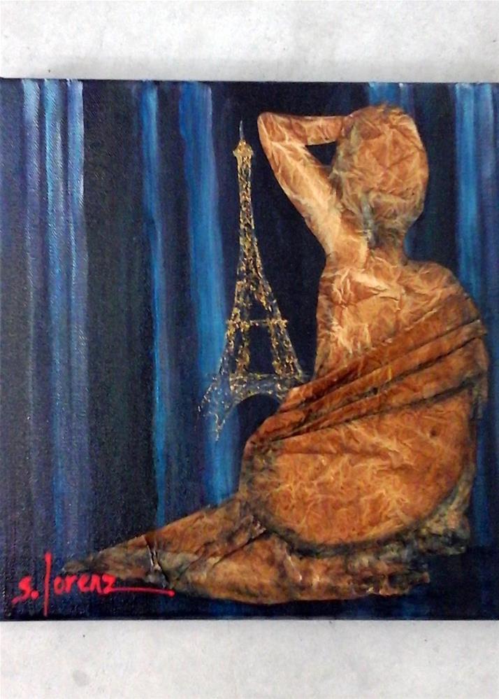 """""""Midnight in Paris"""" original fine art by Sue Lorenz"""