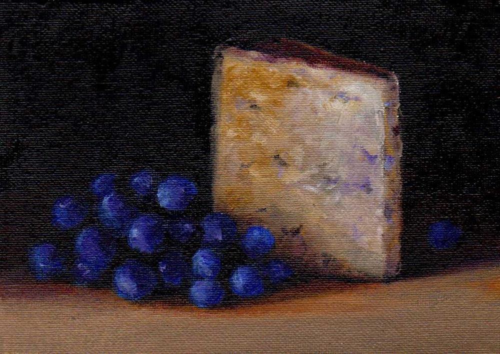 """cheese and grape"" original fine art by Mark DeBak"