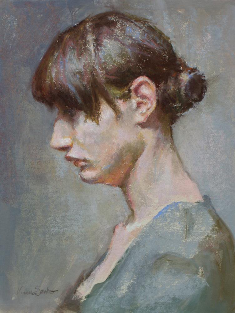 """Blue"" original fine art by Vianna Szabo"