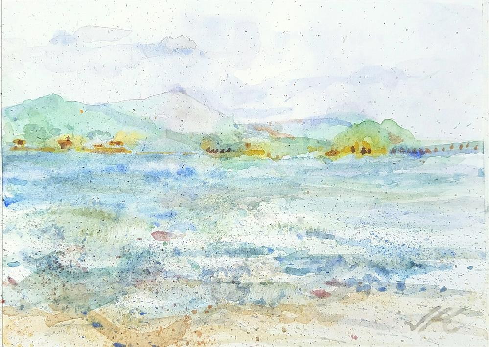 """Beach at Paraty, Brasil"" original fine art by Jean Krueger"